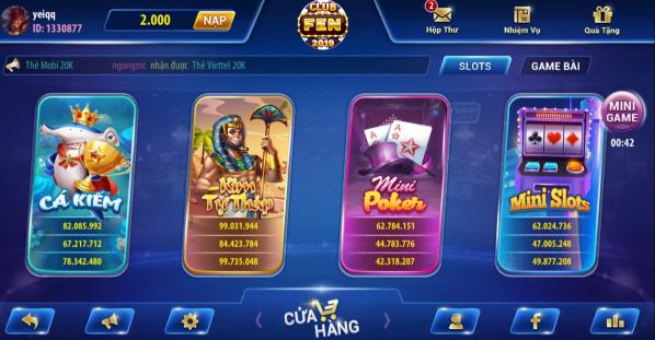 Hình ảnh club fen2 in Tải game Club Fen apk, ios đánh bài, quay slot đổi thưởng