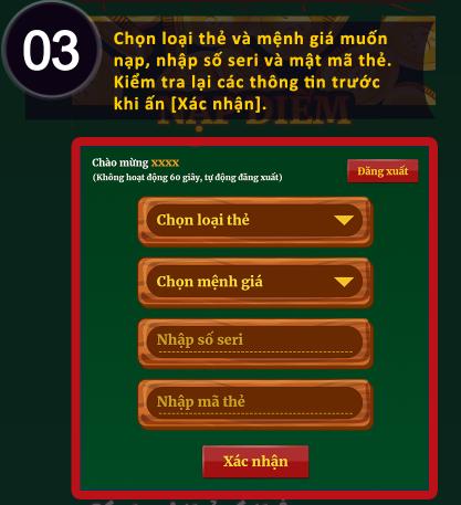 Hình ảnh nap xu3 in Hướng dẫn cách nạp tiền game đồng xu may mắn 777