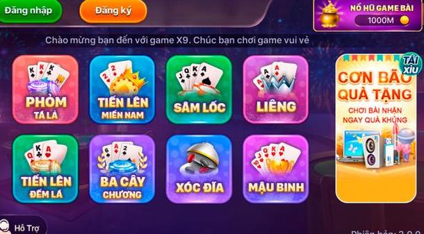 Hình ảnh game bai 9x2 in Tải game bài club 9x ios / apk - Game x9 club đổi thưởng