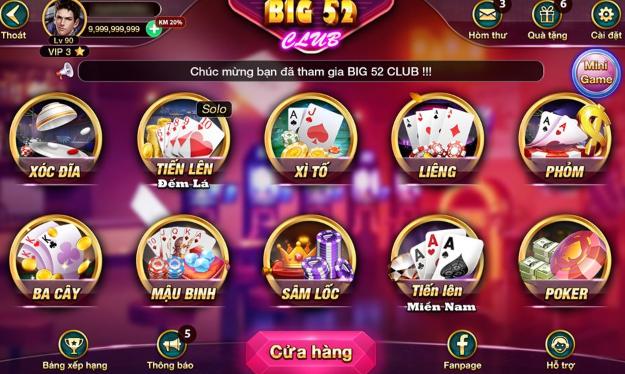 Hình ảnh big52 club3 in Tải big52.club apk, ios -  Big52 club cổng game bài mobi nhận giftcode