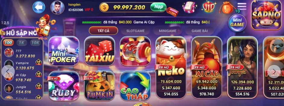Hình ảnh sapno club apk in Tải sapno.club apk / ios | SapNo - Vua Nổ Hũ ra mắt