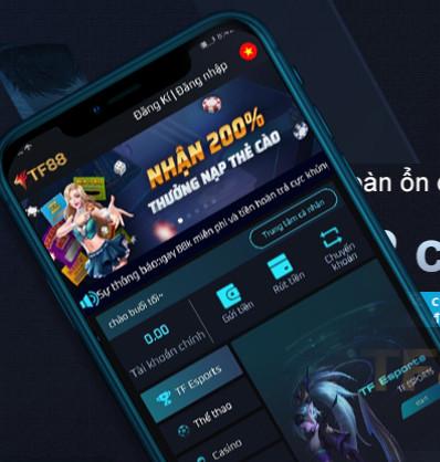 Hình ảnh tf88 app in Tải tf88 app - Cổng TF88 Casino tặng ngay 88k miễn phí